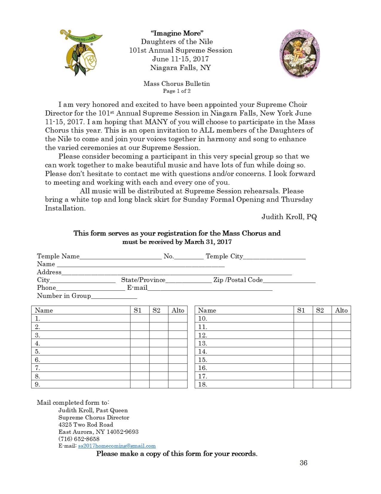 36 Mass Chorus Bulletin