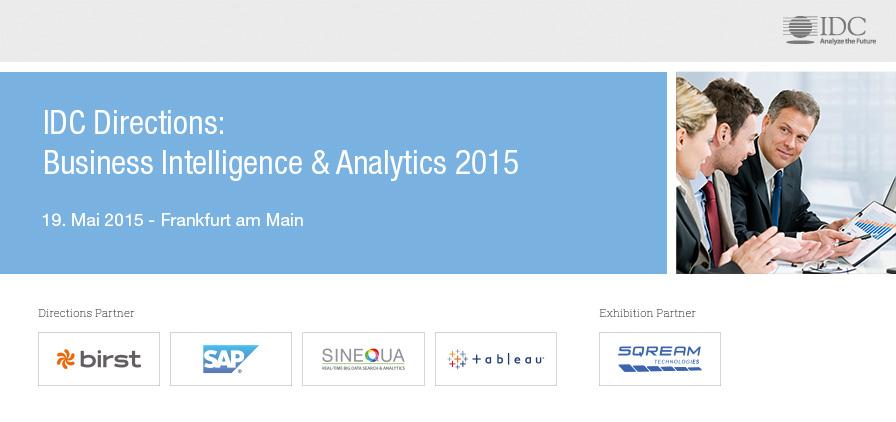 IDC Directions: Business Intelligence & Analytics 2015 - Germany