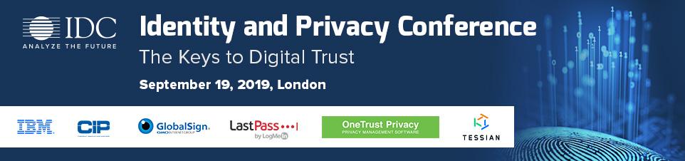 IDC's Identity & Privacy Conference 2019