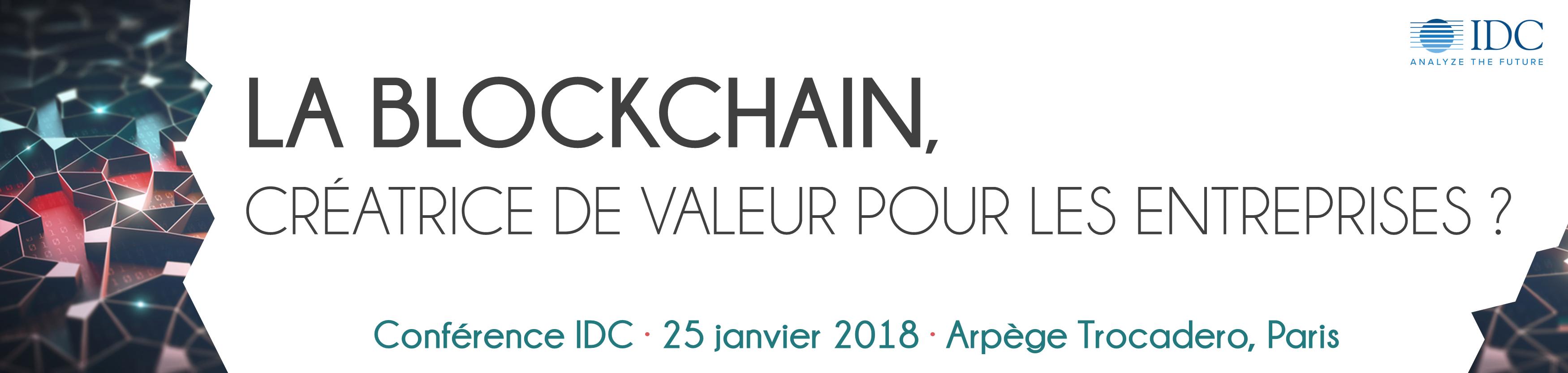 Conférence IDC Blockchain - 25 janvier