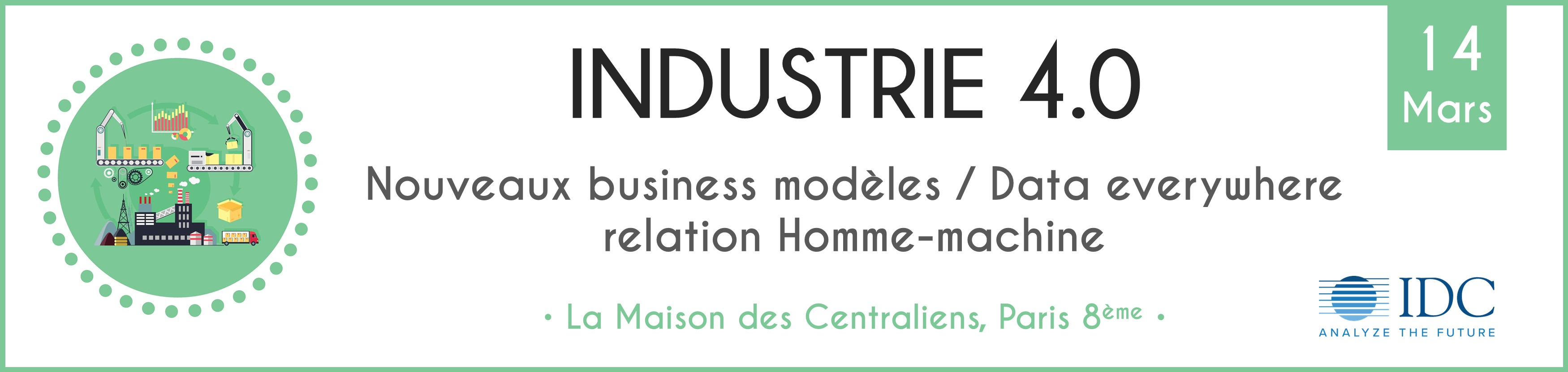 Conférence IDC - Industrie 4.0 - 14 mars 2019