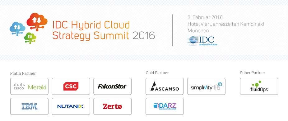 IDC Hybrid Cloud Strategy Summit 2016 - Germany