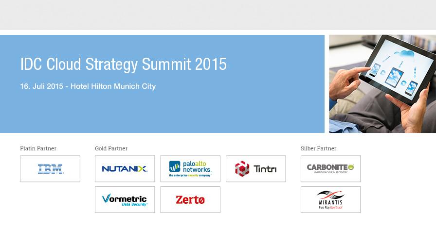 IDC Cloud Strategy Summit 2015 - Germany