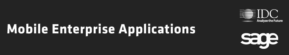 Estudo Mobile Enterprise Applications | IDC Sage