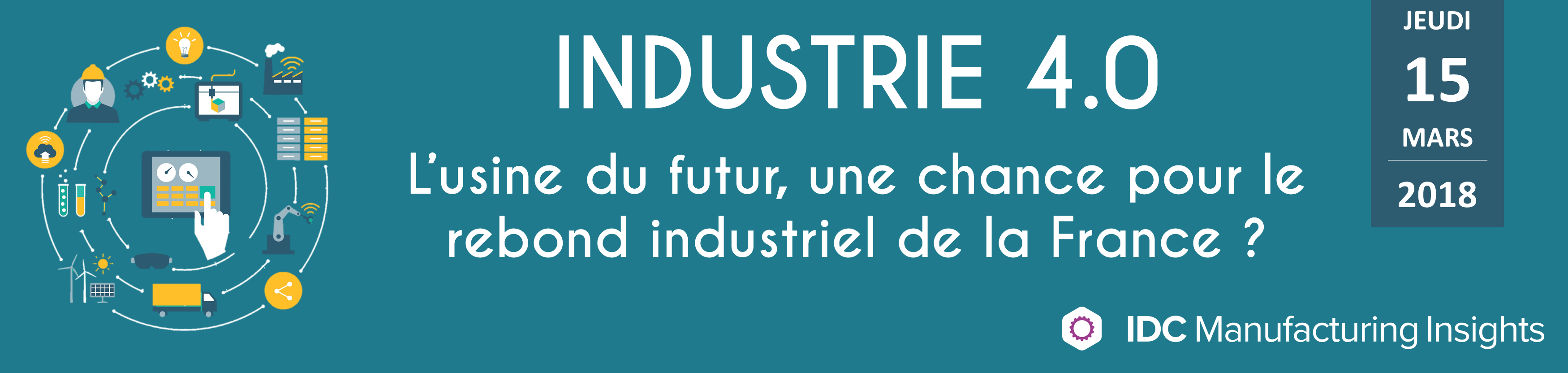 "IDC conférence ""Industrie 4.0"""