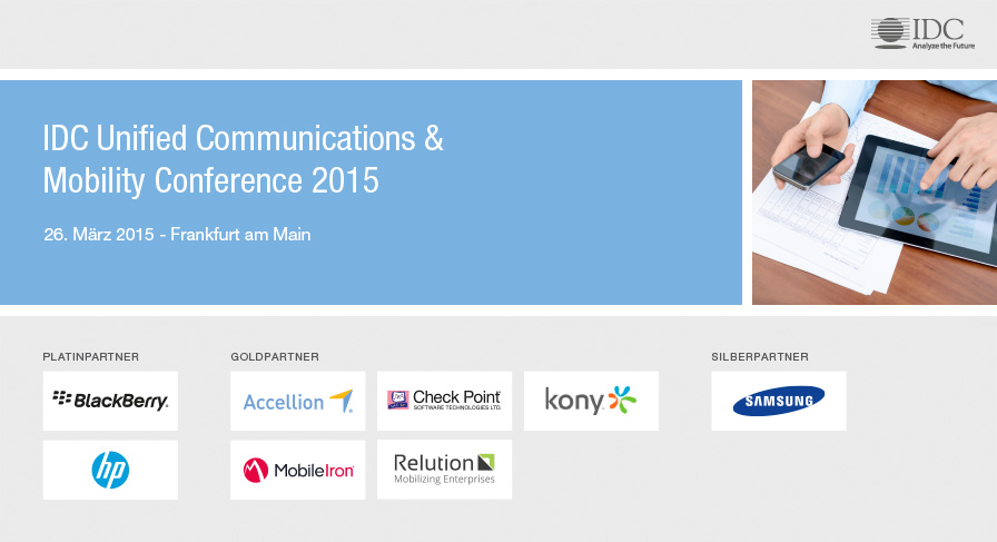 IDC Unified Communications & Mobility Conference 2015 - Germany