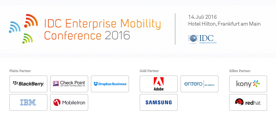 IDC Enterprise Mobility Conference 2016 - Germany