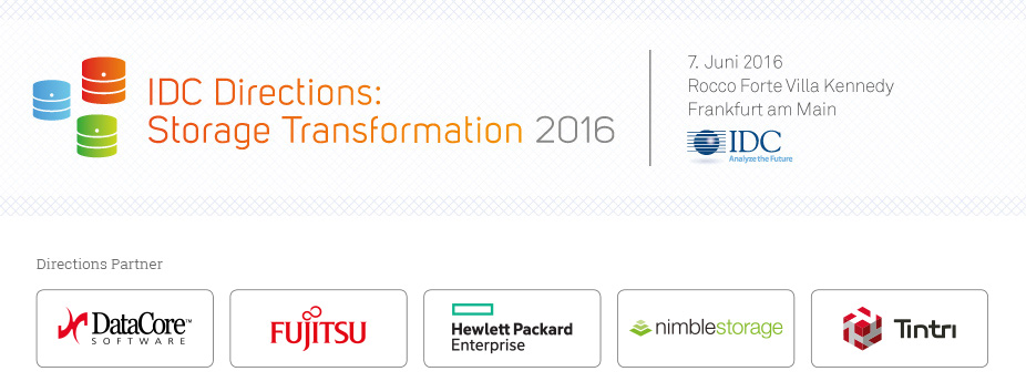 IDC Directions: Storage Transformation 2016 - Germany