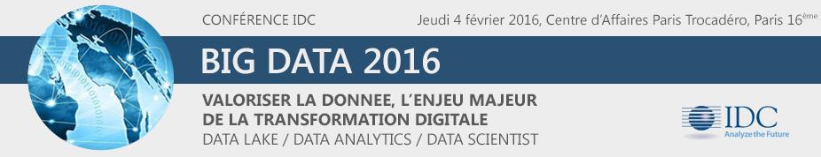 "Conférence IDC ""Big Data"" 2016"