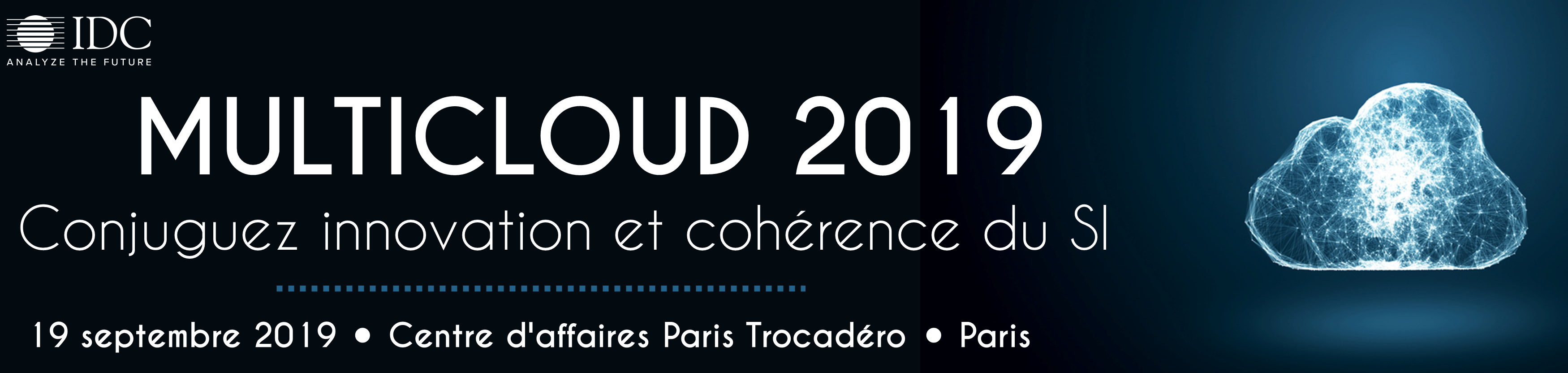 Conference IDC - Multicloud - 19 Septembre 2019