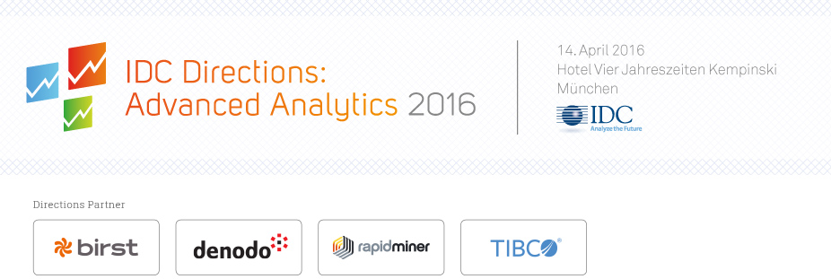 IDC Directions: Advanced Analytics 2016 - Germany