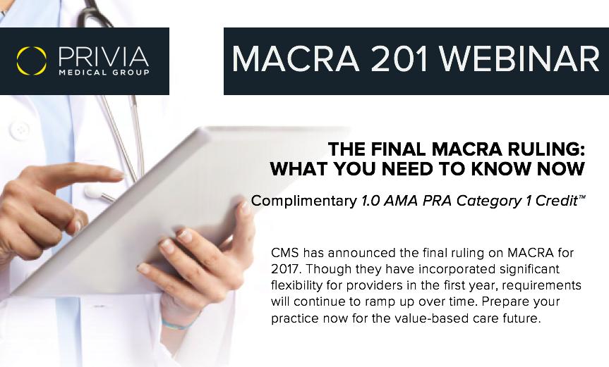 MACRA 201 Webinar- Prospects
