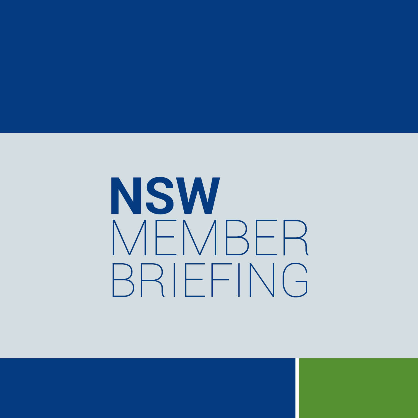 NSW Member Briefing Webtile