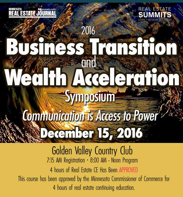 Business Transition and Wealth Acceleration Symposium