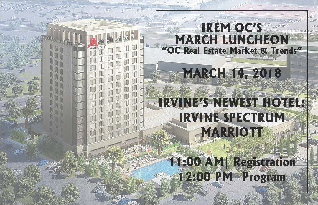 March Luncheon - Orange County Real Estate Market & Trends