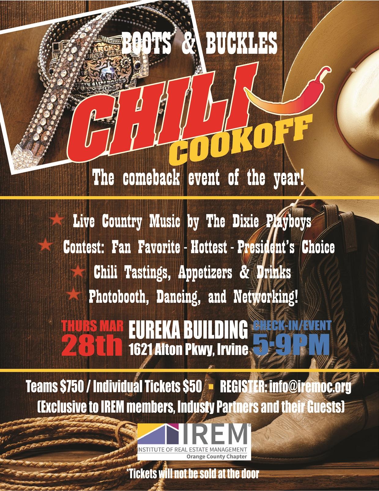 IREM OC Chili Cook Off Flyer - Eureka