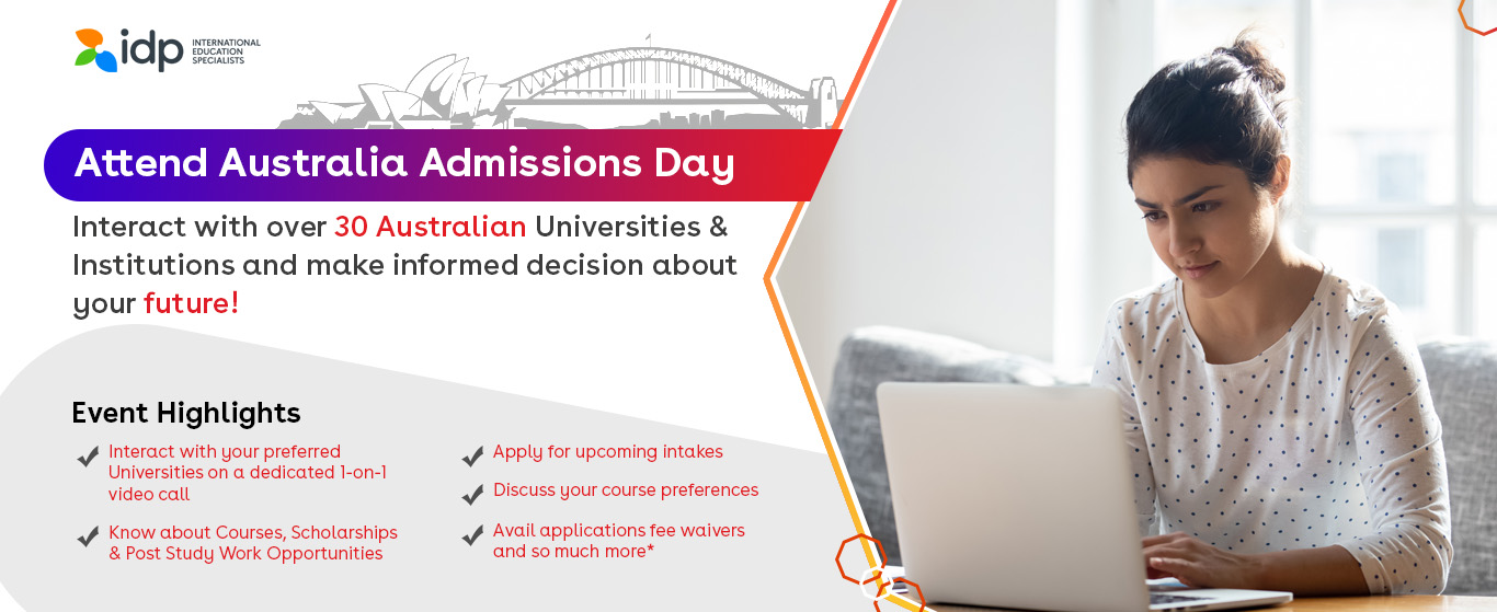 Attend Australia Admissions Day - 28th & 29th Oct - 2020