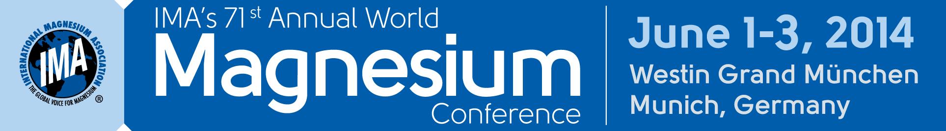 IMA's 71st World Magnesium Conference