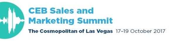 2017 CEB Sales and Marketing Summit: 17-19 October 2017, Las Vegas