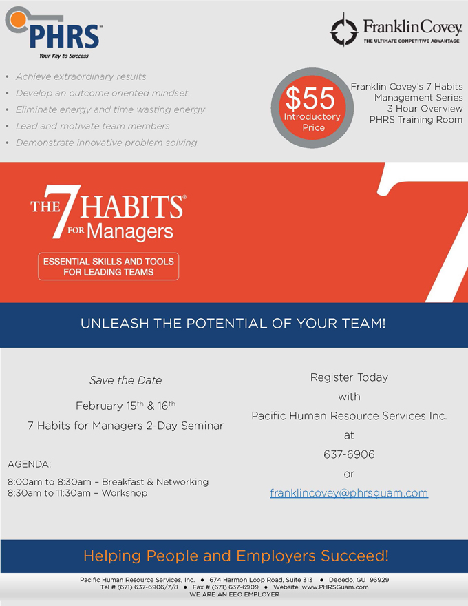 7 Habits Manager Monthly 2x4