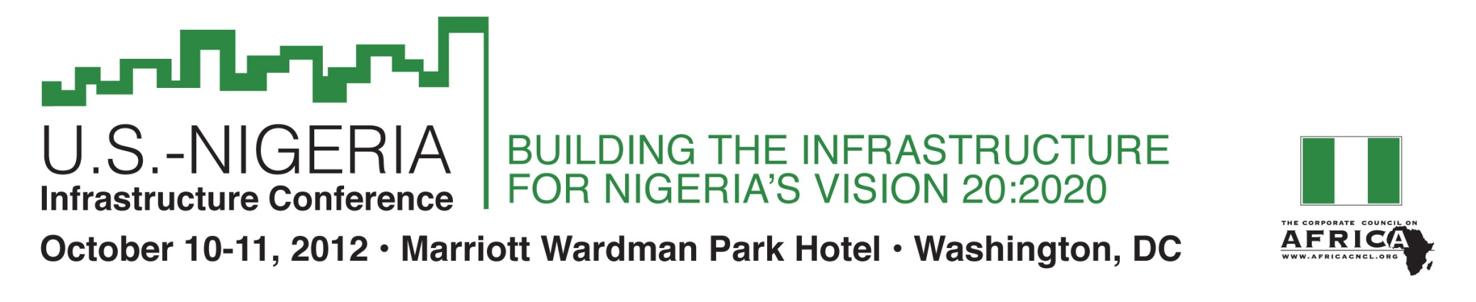 U.S.-Nigeria Infrastructure Conference: Building the Infrastructure for Vision 20:2020