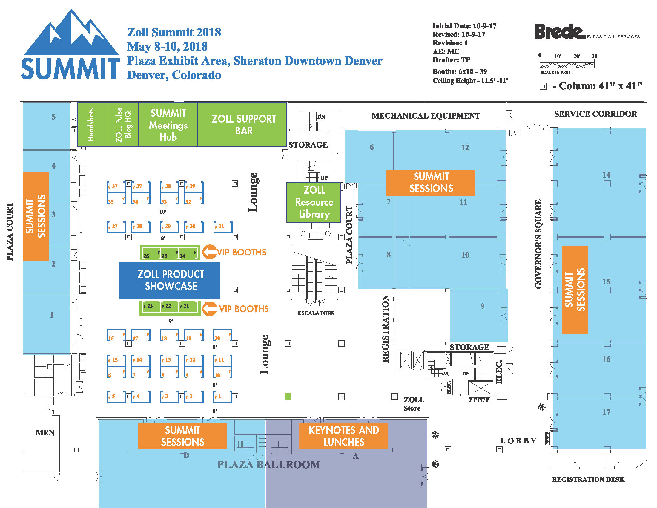 ZOLL SUMMIT 2018 Layout