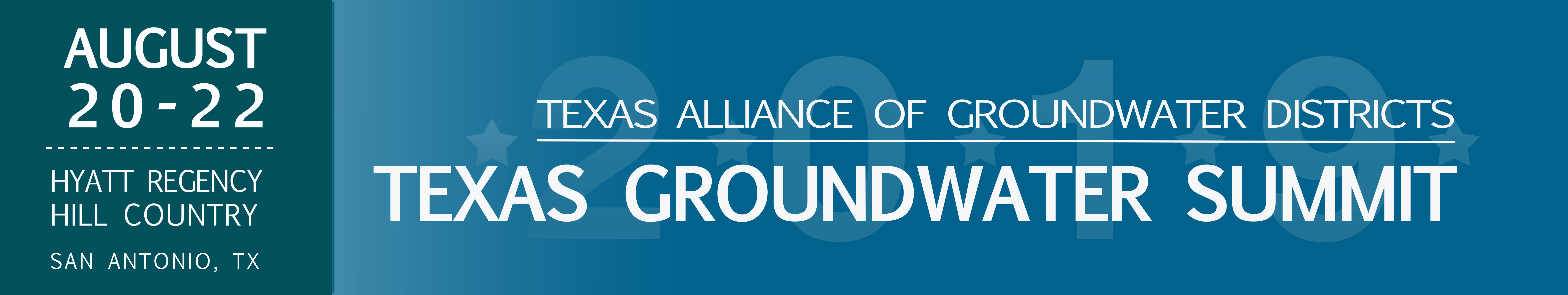 2019 Texas Groundwater Summit