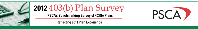 2012 403(b) Plan Survey