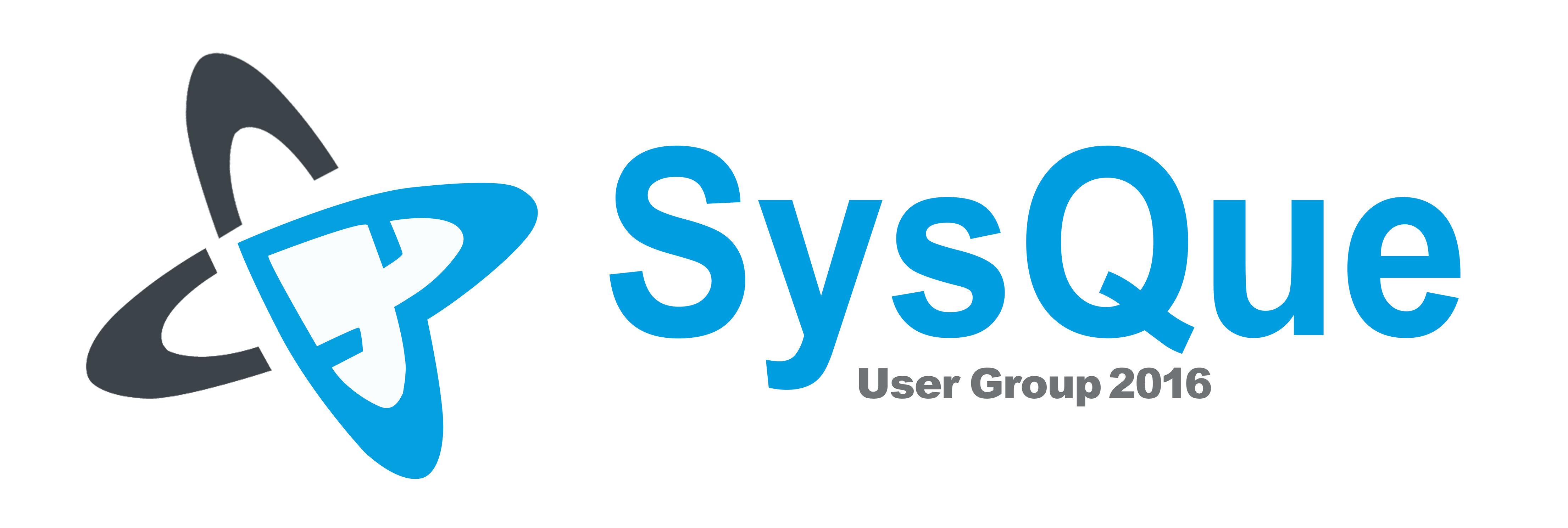 SysQue User Group 2016