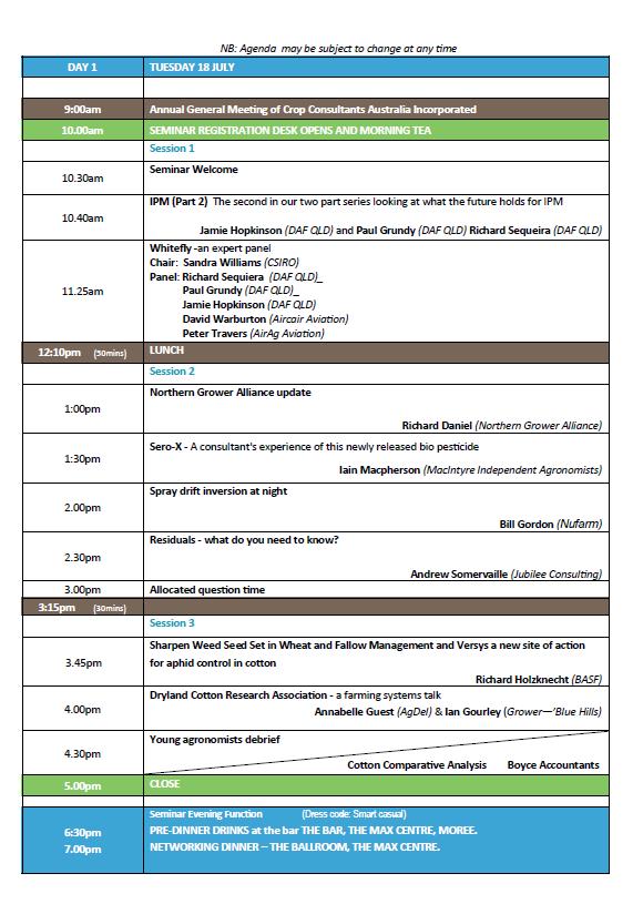 Moree Agenda page 1