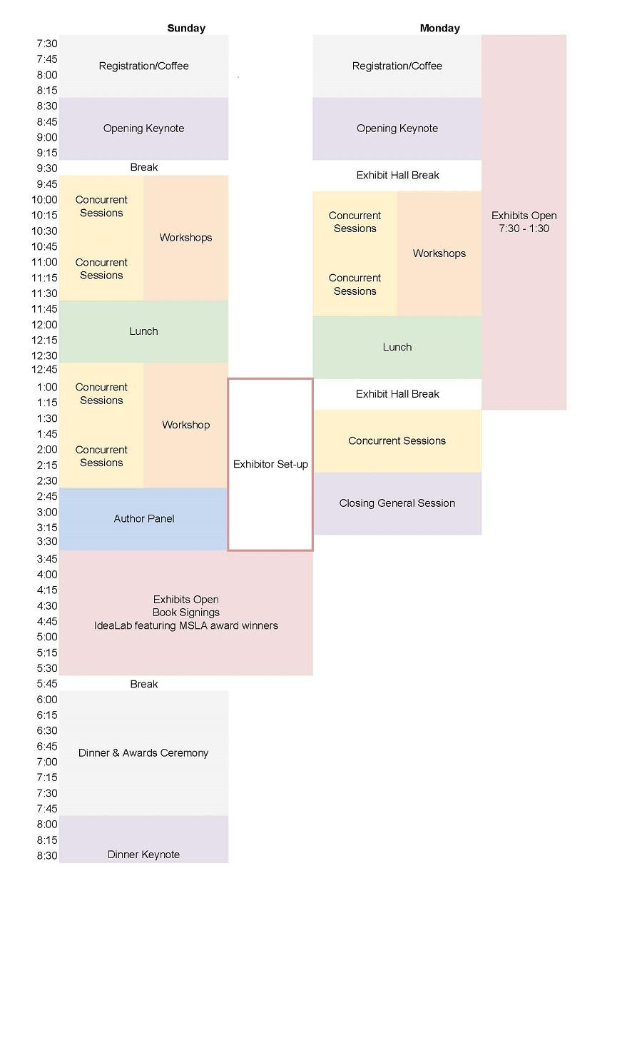 2019 Basic Schedule