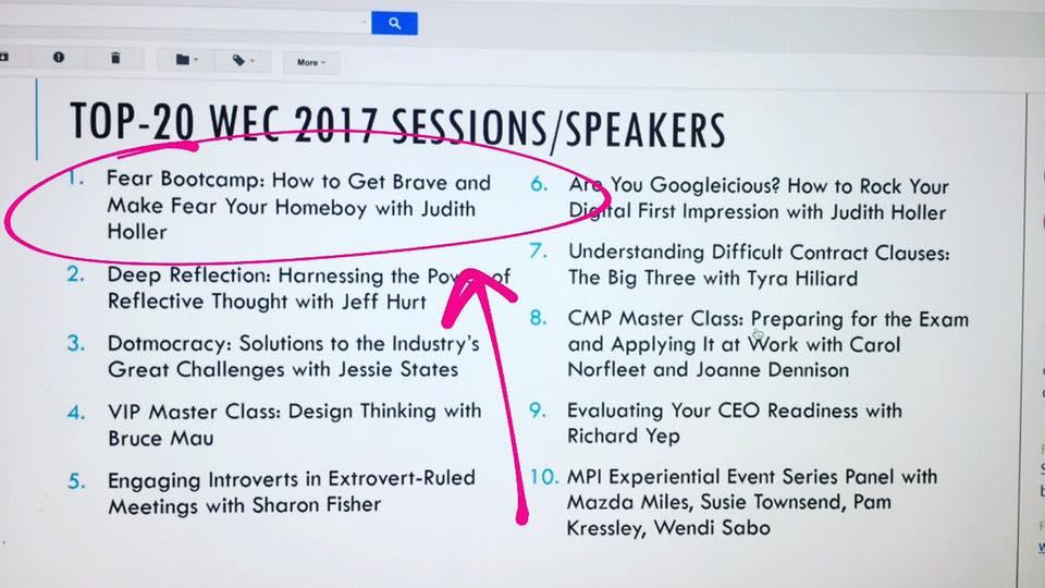 Top Events at WEC