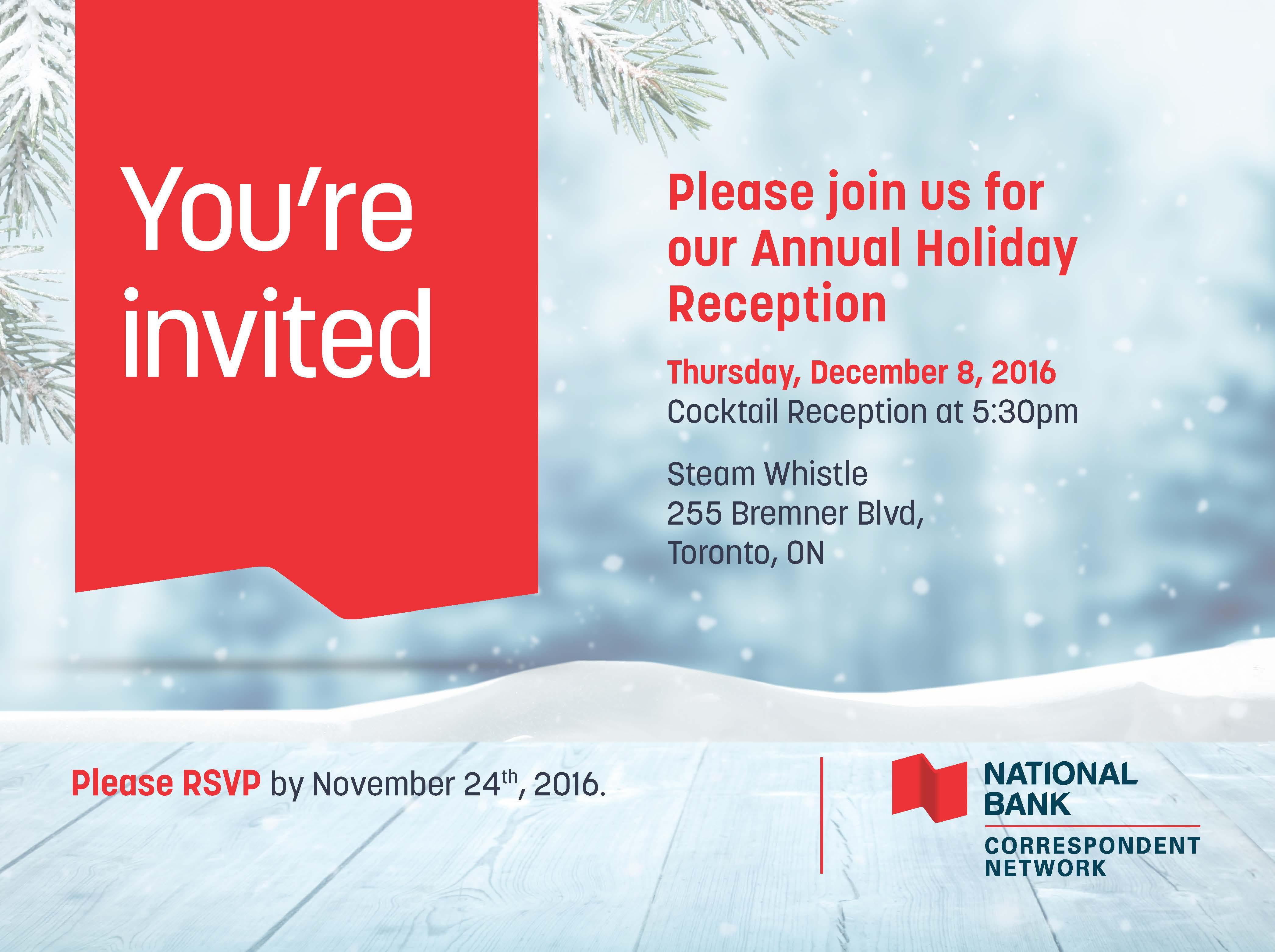 Toronto Holiday Reception