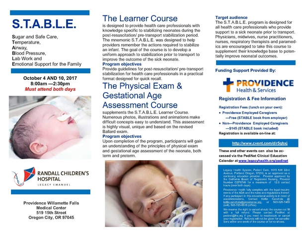 10.2017 STABLE Course_Prov WF brochure