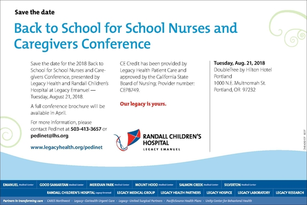 2018 Back to School for Nurses  Caregivers Conf. S
