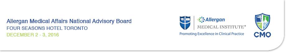 Allergan Medical Affairs National Advisory Board