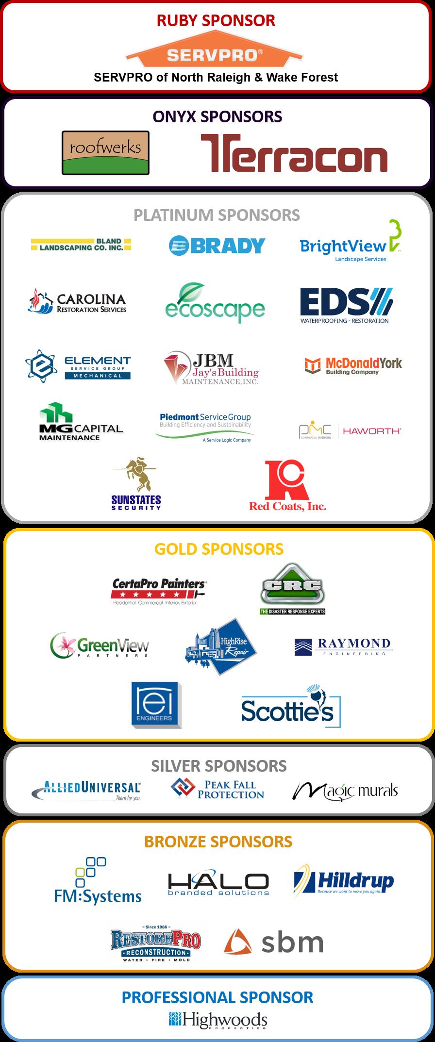Newsletter Sponsors 2018