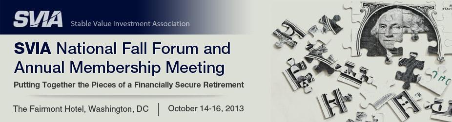 SVIA National Fall Forum and Annual Membership Meeting