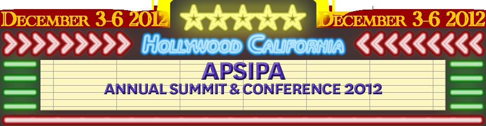 APSIPA 2012