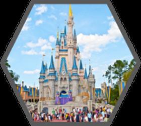 Disney castle hexagon