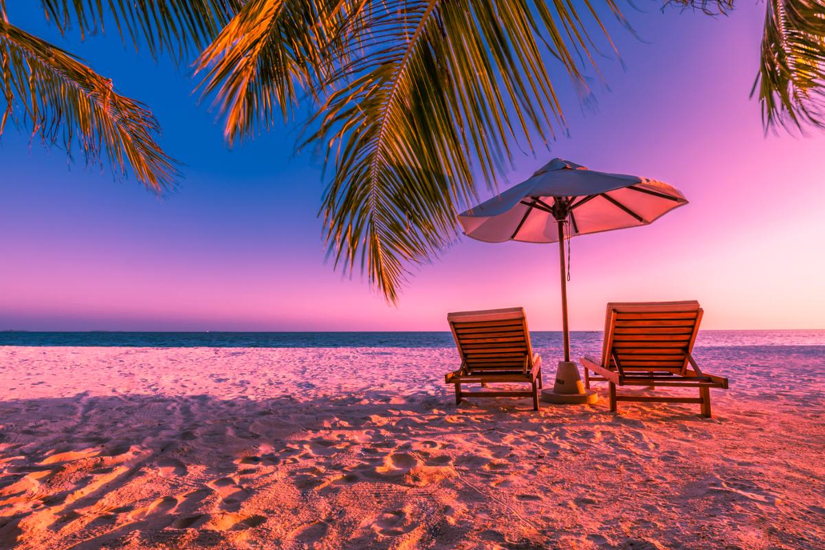 chair sunset