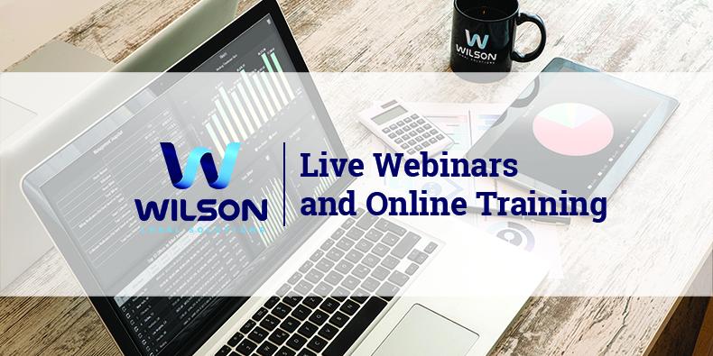 Wilson Legal Solutions Webinar Series 2018