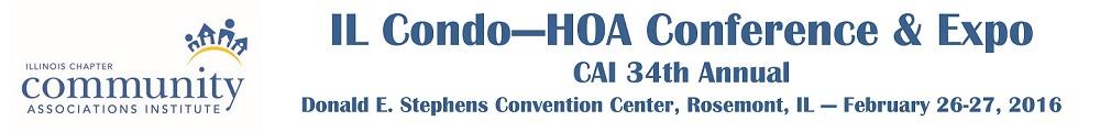 IL Condo-HOA Conference & Expo Exhibitor Registration 2016