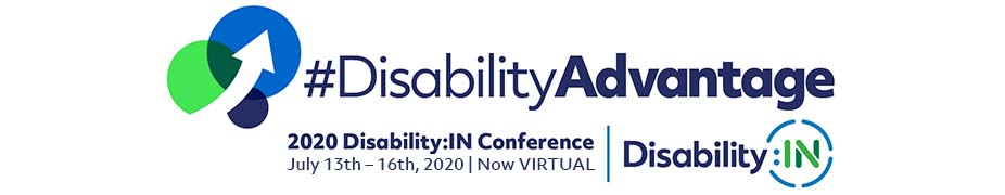 #DisabilityAdvantage 2020 Annual Conference logo July 13th – 16th now virtual.