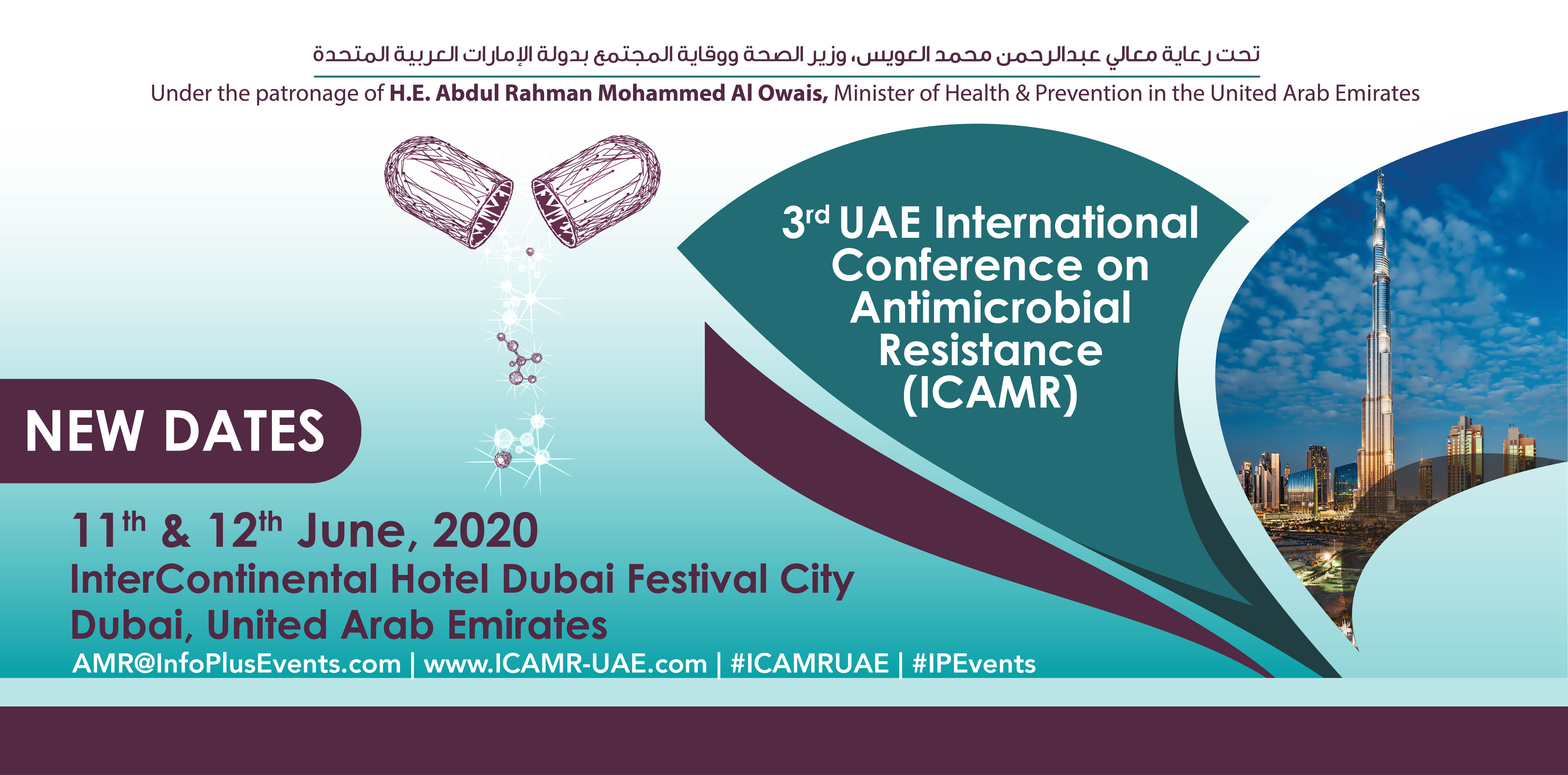 3rd UAE International Conference on Antimicrobial Resistance (ICAMR) 11th & 12th June,2020