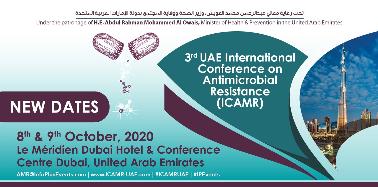 3rd UAE International Conference on Antimicrobial Resistance (ICAMR) 8th & 9th October,2020