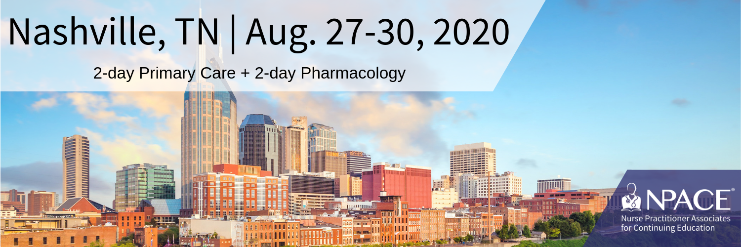 2-day Primary Care + 2-Day Pharmacology - Nashville 2020