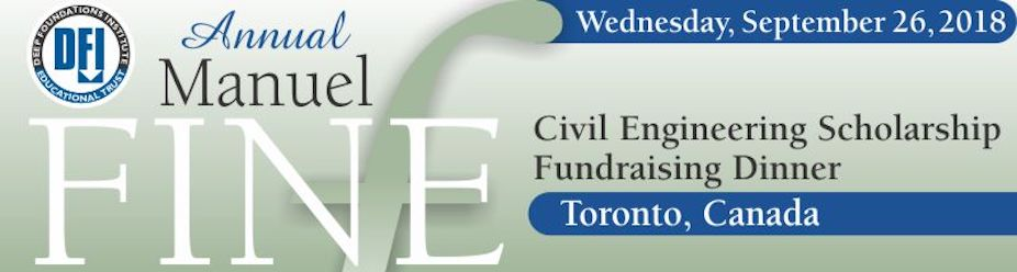 DFI Educational Trust: 2018 Manuel Fine Civil Engineering Scholarship Fundraising Dinner