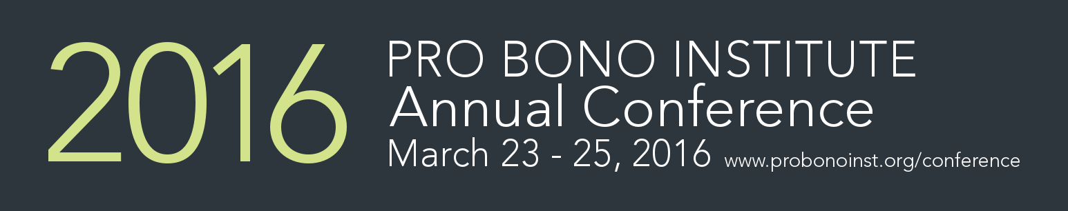 2016 Pro Bono Institute Annual Conference