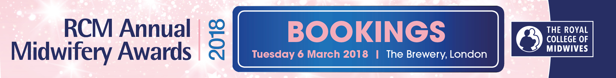 RCM Annual Midwifery Awards 2018 - Table Bookings